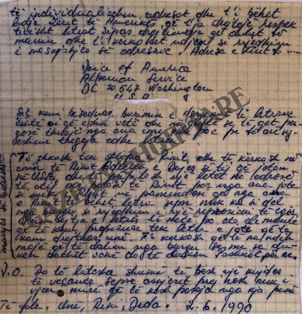 Letra që i dërgojnë nga Burgu i Tiranës Dedë Kasneci Rini Monajka dhe Kolec Hublini Ardian Ndrecës