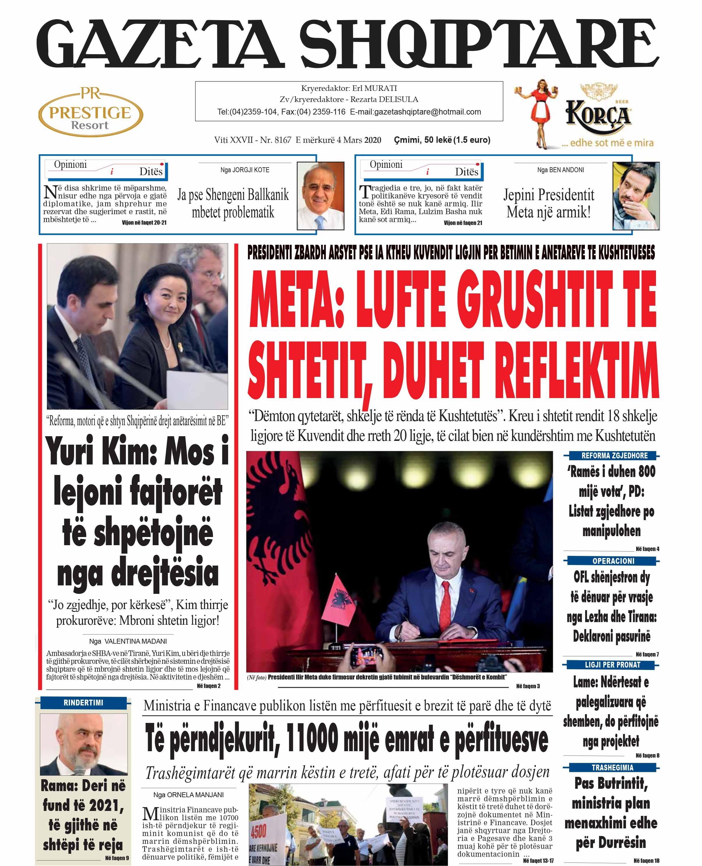 gazetat me te mira shqiptare
