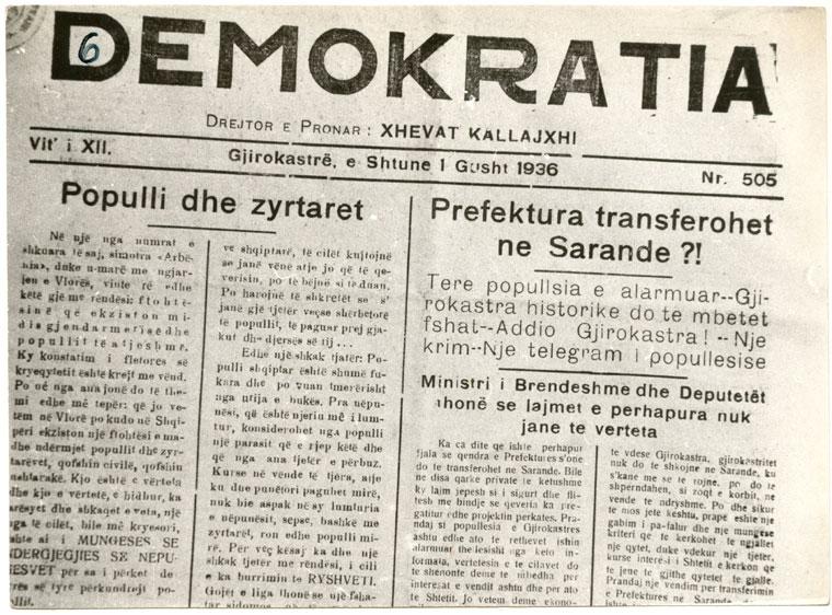 Gazeta Demokratia 1936