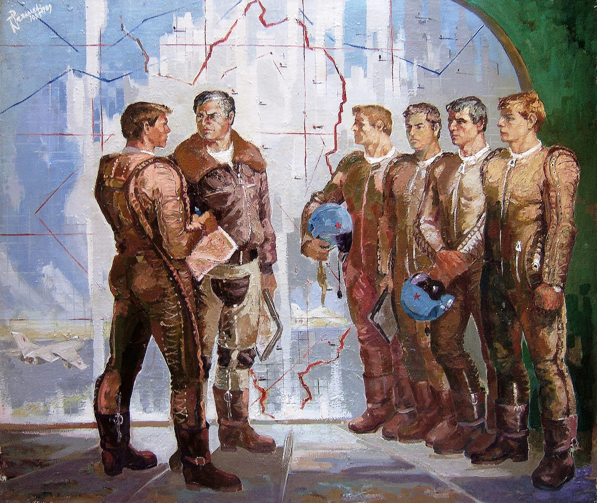_ Robert Përmeti(1985) ''Pilots'', 147 x 173 cm _ oil on canvas _ Courtesy the artist copia